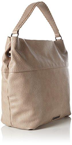 Bags Damen Hobo Henkeltaschen, Beige (Feather 8251), 48x39x11 cm s.Oliver