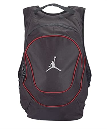 b2c57004213e Nike Jordan Polyester Black and Red Air Jumpman Book Backpack  Amazon.in   Bags