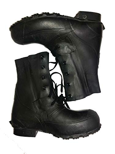 Combat Boot,Mickey Mouse Extreme Cold Weather Boots, Waterproof Rubber, Genuine U.S. Military Issue (9 Wide) ()
