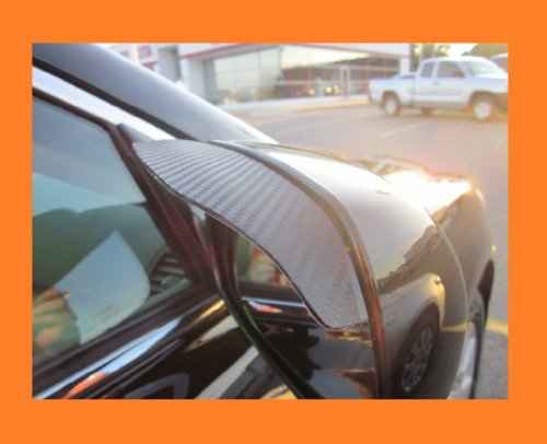 2002-2007 JAGUAR VANDEN PLAS BLACK CARBON FIBER SIDE MIRROR VISOR RAIN GUARDS 2003 2004 2005 2006 02 03 04 05 06 07 by true-line