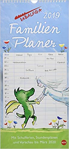 look out for really cheap good selling Tabaluga Familienplaner - Kalender 2019: Amazon.co.uk: Helme ...