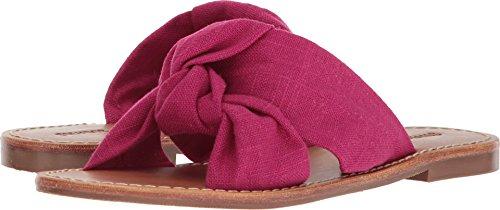 Fuchsia Slides - Soludos Women's Knotted Slide Sandal, Fuchsia, 8.5 Regular US