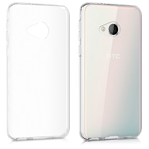 (kwmobile Crystal Case for HTC U Play - Soft Flexible TPU Silicone Protective Cover - Transparent )