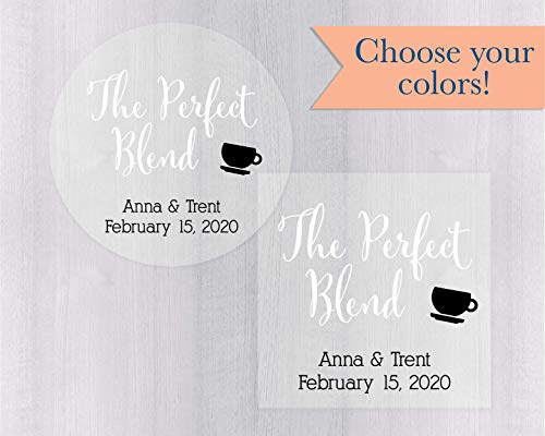 The Perfect Blend Clear Transparent Wedding Stickers (#097-C-WT-B)