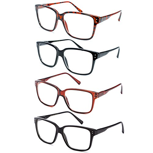 Newbee Fashion- Casual Nerd Thick Clear Frames Fashion Glasses for - Bans Glasses Ray Nerd