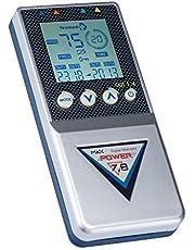 TESMED Max 7.8 Digital TENS-massage + EMS Duo elektrostimulatie-apparaat met 4 kanalen, voor spieropbouw incl. 8 elektroden
