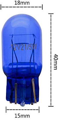 Set di 2 luci di marcia diurna W21W T20 blu senza errori Canbus. 21 W 12 V
