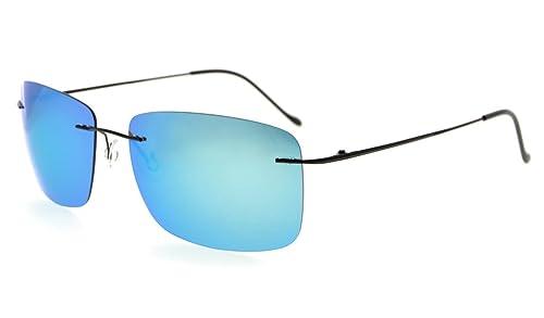 Eyekepper Gafas de sol sin montura de titanio con TAC polarizaron lente hombres mujeres