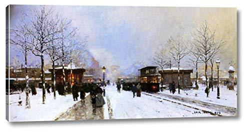 The Porte Maillot, Snow Effect, Sunset by Luigi Loir - 11