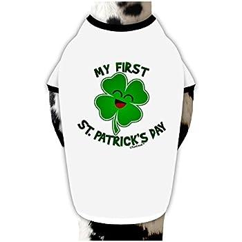 cfb86645cbda TooLoud My First St. Patrick's Day Dog Shirt White with Black Medium