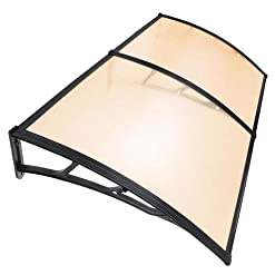 Garden and Outdoor Yescom 80″x40″ Door Window Outdoor Awning 2 Whole Hollow Polycarbonate Sheets Cover UV Rain Snow Protection patio awnings