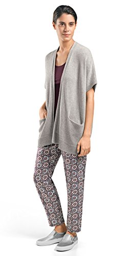 Hanro Women's Knits Tops Short Sleeve Cardigan 78381, Silver Melange, Medium