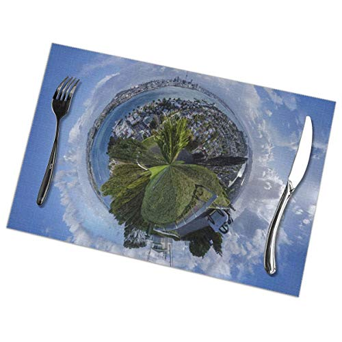 Placemats for Dining Table Set of 6 Fantasy World Wear-Resistant Heat-Resistant Kitchen Table Mats 18