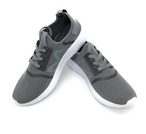 Blue Berry EASY21 Herren Atmungsaktive Mode Turnschuhe Casual Slip-On Loafers Laufschuhe Gray71