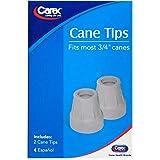 Carex Gray Cane Tips 3/4 in, 2 ea