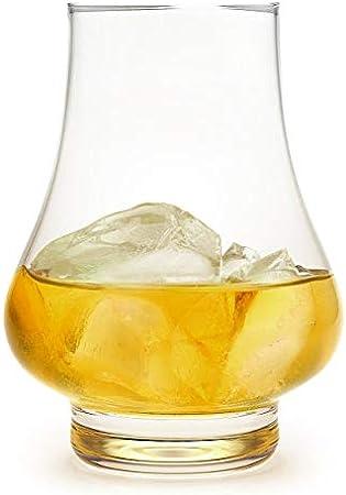 Vaso de degustación de whisky individual de 260 ml, fabricado por Dartington Crystal para Bar Amigos The Whiskey Experience Glass Nariz Scotch Taster Set de regalo