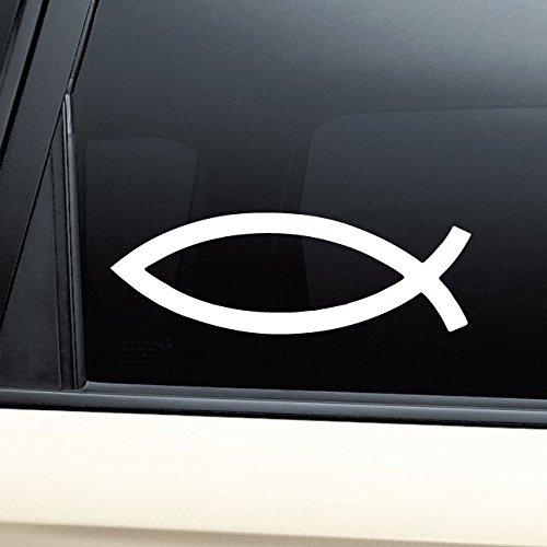 (Nashville Decals Jesus Fish Icthus Vinyl Decal Laptop Car Truck Bumper Window Sticker)