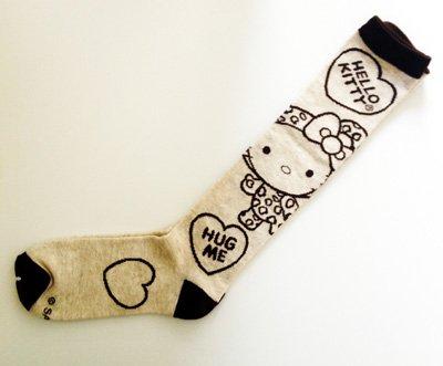 Knee High Socks - Hello Kitty - New Sanrio Polaroids Anime Licensed (Hello Kitty Knee High Socks)