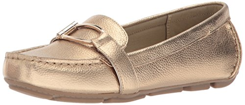 Anne AK Loafer Leather Klein Petra Sport Flat Gold Leather Women's r5RrwYTx