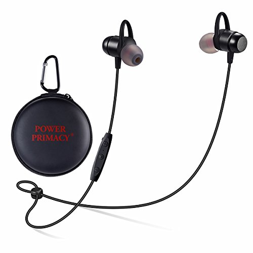POWER PRIMACY Bluetooth Headphones In Ear Wireless Earbuds 4.2 Magnetic Sweatproof Stereo Sports Bluetooth Earphones with Mic for Gym Running Workout Headsets 10 Hours Playtime, (Power Bluetooth)