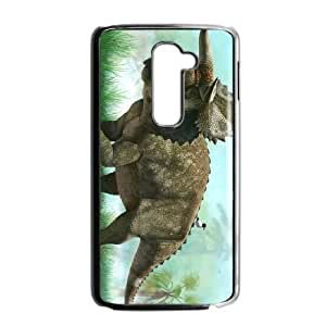 LG G2 phone case Black Dinosaur VFR4417302