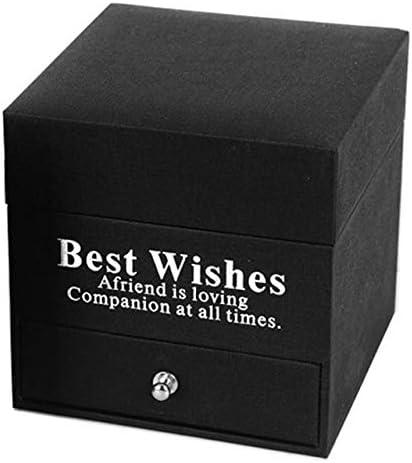 WSDSHH Caja De Flores De Moda Caja Cuadrada con Caja De Cajones ...