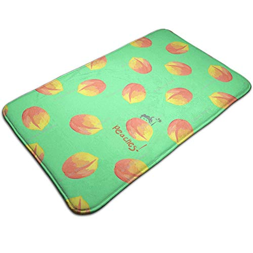 (Tuoneng Just Peaches,Kitchen Carpet Rug Door Mat Rug for Bathroom Outdoor Porch Laundry Living Multifunction Doormat (19.5