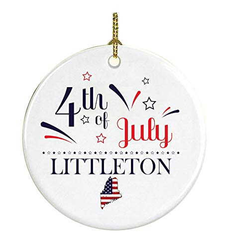 4Th Of July Decorations For The Home Littleton Maine Independence Day Decor Decorations Patriotic American Red White Blue Star Decorations America Pride Ceramic 3 -