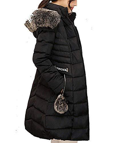 Pour Slim À Femmes Oudan Long Capuchon Parka Manteau L coloré D'hiver Chaud Noir Down Taille wBcwnqUWxR