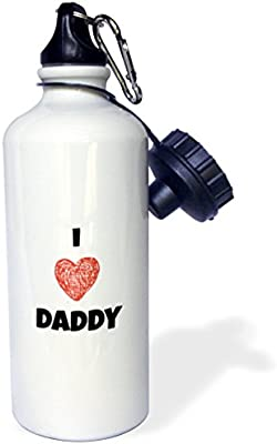 21oz wb/_184211/_1 3dRose Love My Daddy-Sports Water Bottle Multicolored