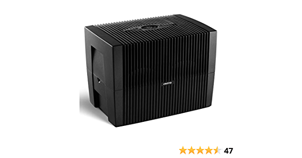 VENTA LW45 Comfort Plus Airwasher Humidifier, 645 ft², Black