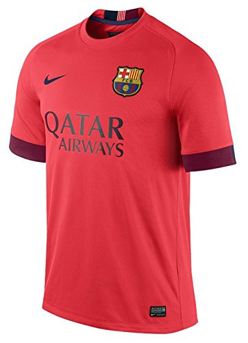 124bc693020 Nike FC Barcelona Away Stadium Jersey (Bright Crimson/Loyal Blue) (XL)