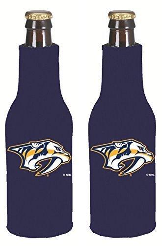 Logo Sports Bottle - NHL Hockey 2014 Team Color Logo Bottle Suit Holder Koozie Cooler 2-Pack (Nashville Predators)
