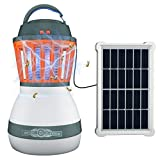 LED Camping Lantern - Solar Camping Lantern,LETOUR Portable Camp Lamp Flashlight,USB Rechargeable Emergency LED Light,Collapsible Bug Zapper for Outdoor & Indoor Use,Survival Kit for Emergency, Hurricane, Outage