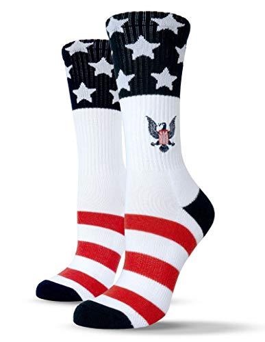 Unisox Americana Socks - Embroidered USA Bald Eagle Socks - Free Bird