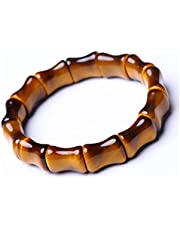 Feng Shui Armband Tijger Eye Stone Energy Stretch Crystal Armband Bamboo Stijl voor Dames Mannen Talisman Healing Crystal Trek welvaart tot veel geluk PRTOYO