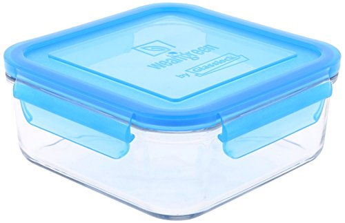 (Wean Green Glass Food Storage Containers, Meal Cube 28 ounces, Blueberry)
