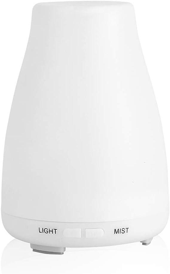 7色エッセンシャルオイルディフューザーミスト加湿器、空気加湿器、家庭用デスクトップリビングルーム寝室オフィス(U.S. regulations)