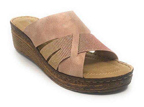 Raquel Slide Gc Wedge Shoes Comfort Blush qAAvw05x