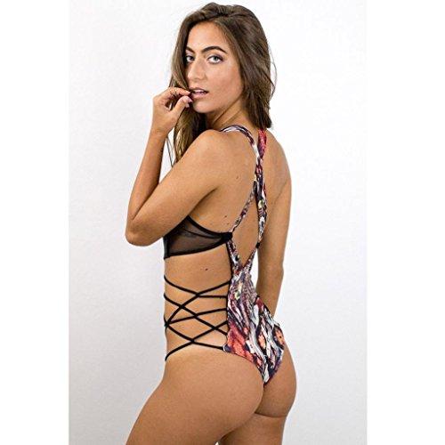 Bikini Donna SamMoSon Costume da bagno sexy stampato Strisce mbottito one piece patchwork push-up Imbottito Stampato Bra Beach costumi da bagno
