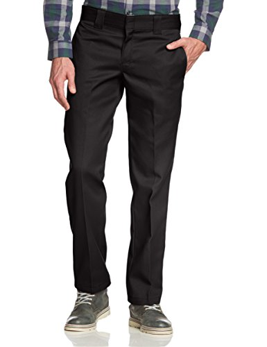 Straight Nero Work Pantaloni Slim Uomo Black Dickies rinsed 5nZqwq