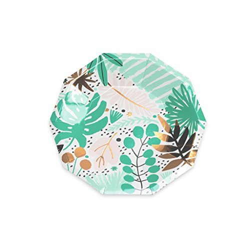 Luau Party Hawaiian Theme Paper Plates 7.5