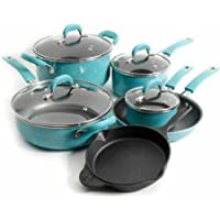 10-Piece Pioneer Woman Vintage Speckle Non-Stick Cookware Set