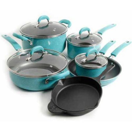 the-pioneer-woman-vintage-speckle-10-piece-non-stick-pre-seasoned-cookware-set-turquoise-dishwasher-