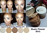 3 Sets X Music Flower 5in1 Concealing Shading Powder 55 G.