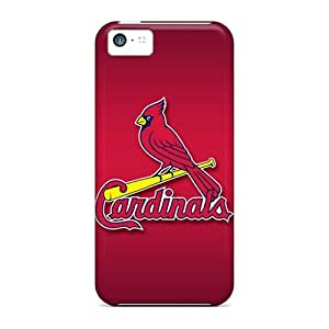 Protective Tpu Cases With Fashion Design For Iphone 5c (st. Louis Cardinals)