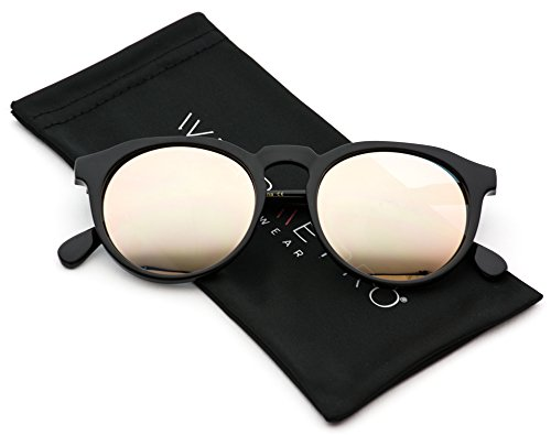 WearMe Pro - Retro Unisex Round Mirrored Fashion - Sunglasses Mirrored Cute