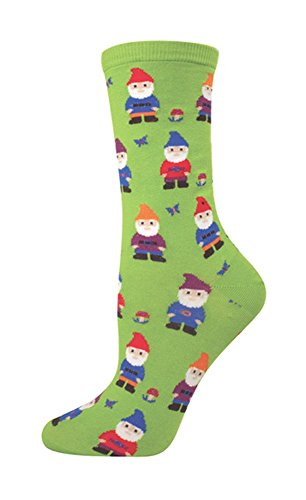 Socksmith Women's Green Nice to Gnome You Crew Socks,One size