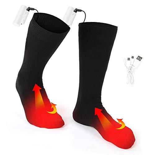 Verwarmde sokken, op batterijen verwarmde sokken, 3 temperaturen buitenshuis, warme wintersokken voor mannen en vrouwen.