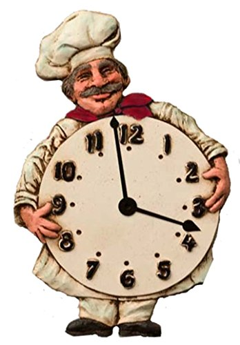 Country Carver Chef Kitchen Wall Clock